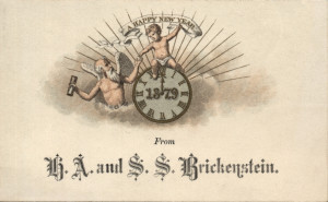 Calling Cards For Greeting New Year in the Victorian Era (1)