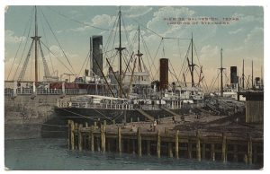 Loading_of_Steamers,_Pier_33,_Galveston,_Texas_(6506964055)